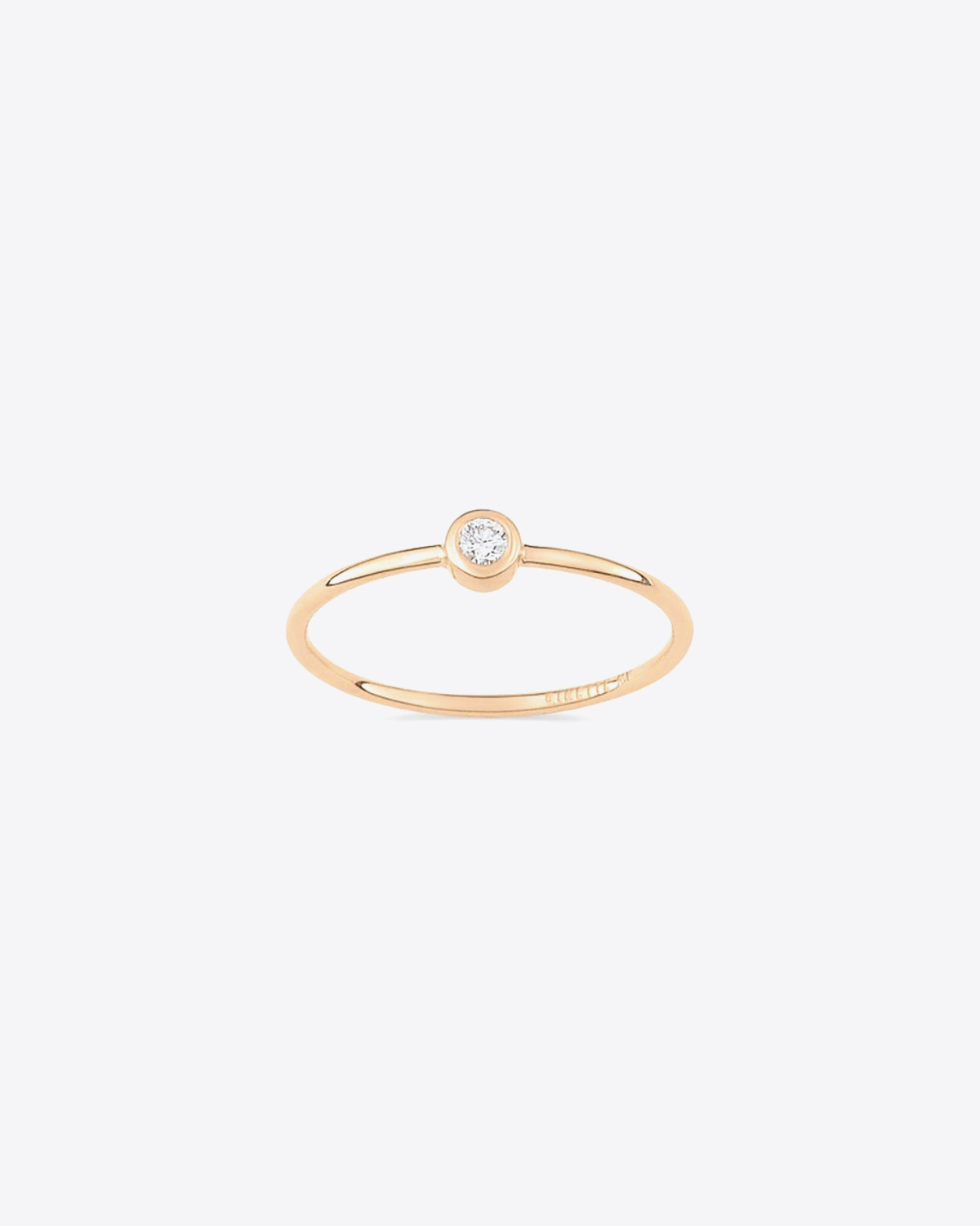 Ginette NY Lonely diamond ring - Or Rose 18K & Diamant