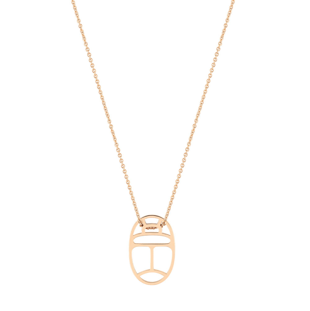 Ginette NY Mini Wish on chain - Or Rose 18k