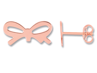 Ginette NY Mini bow studs - Or Rose 18K