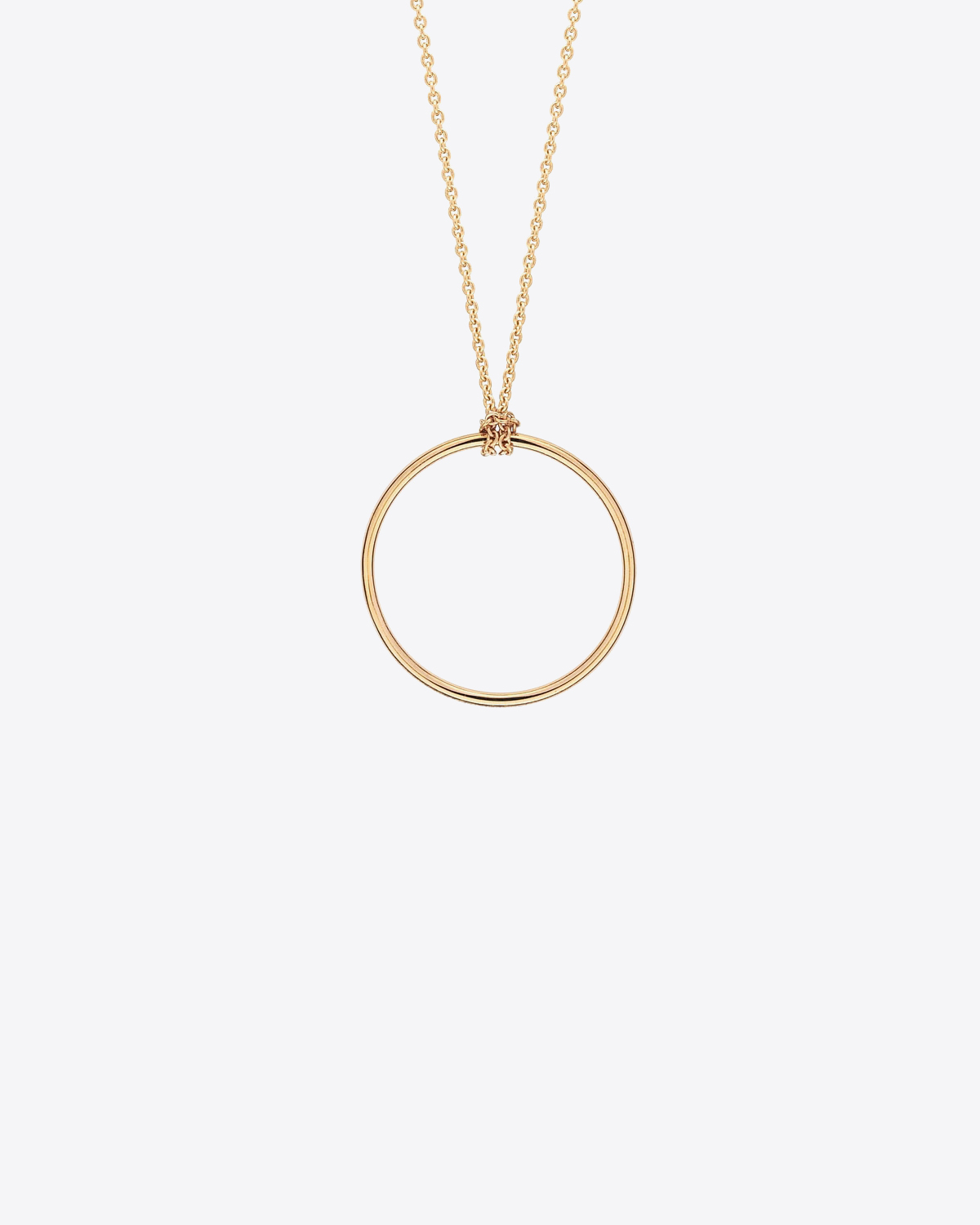 Ginette NY Mini circle on chain - Or Rose 18k