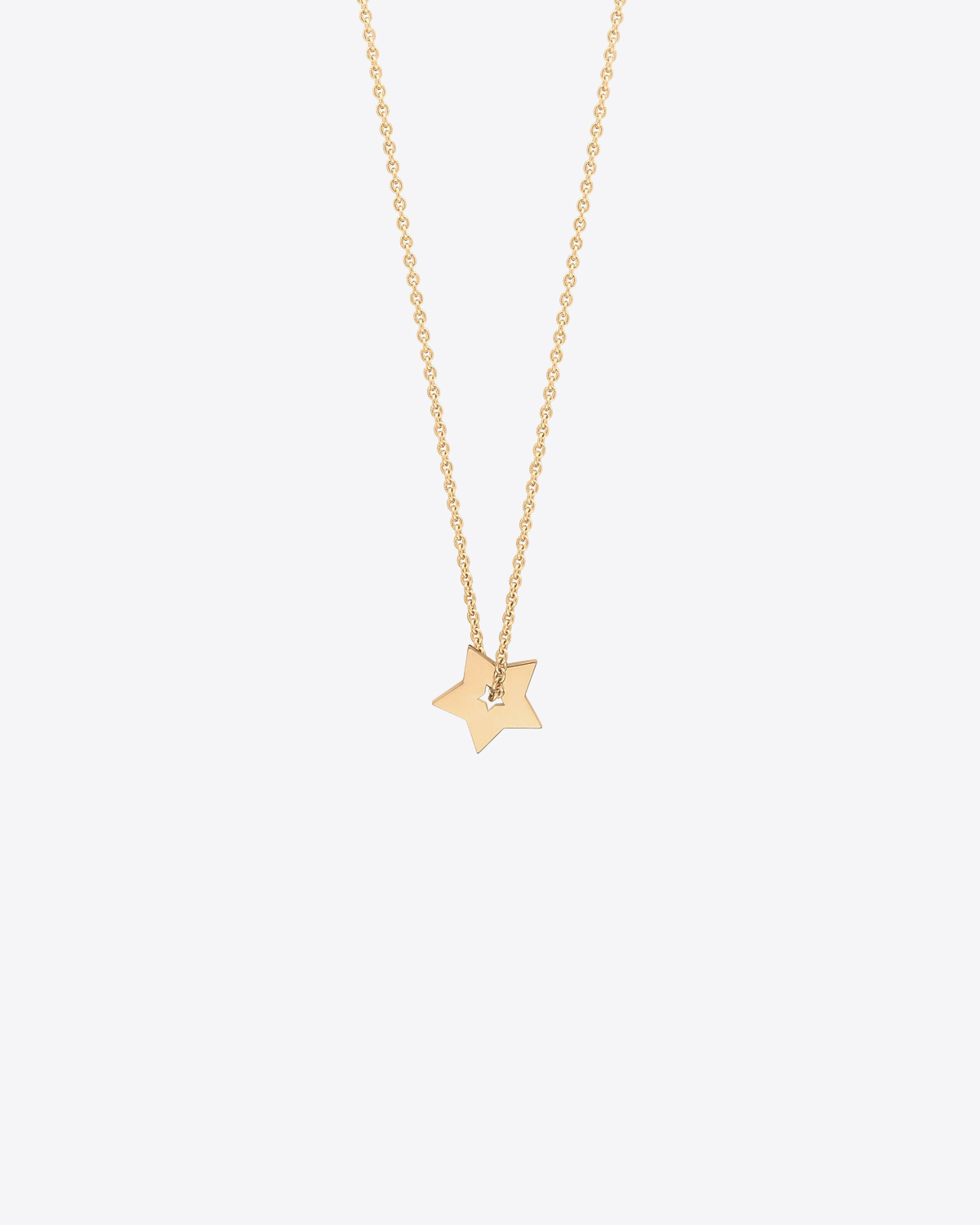 Ginette NY Mini open star on chain - Or Rose 18K