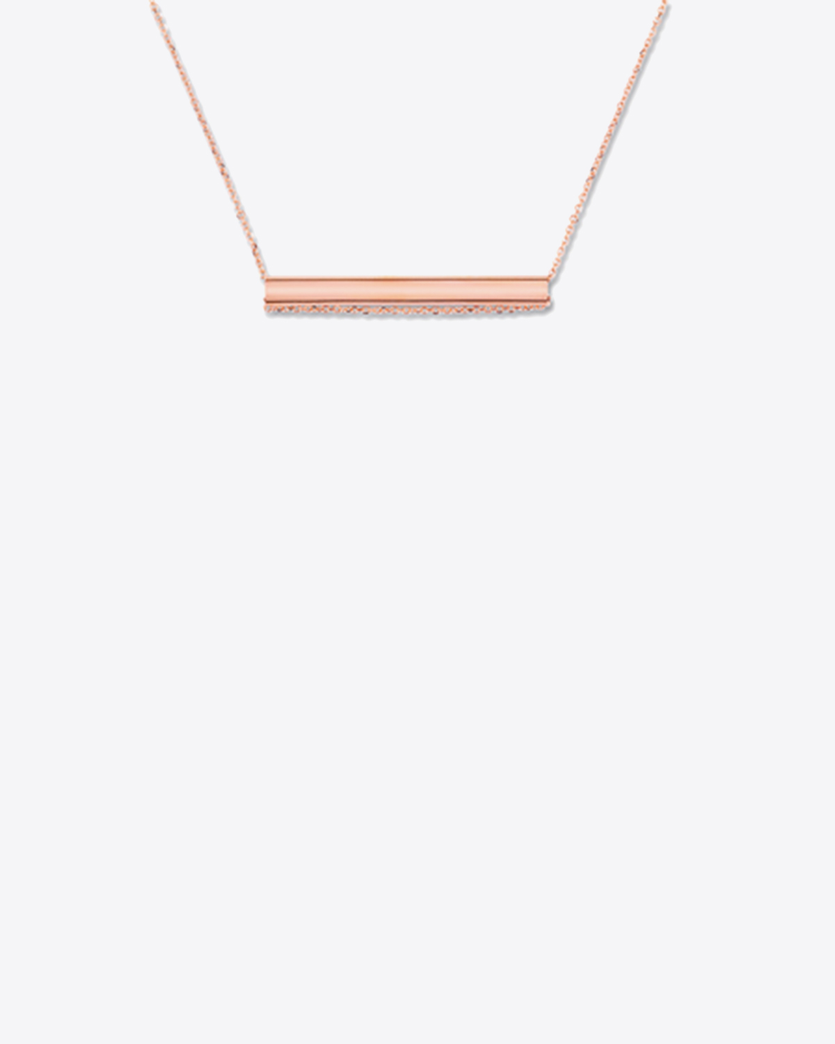 Ginette NY Straw on chain - Or Rose 18K