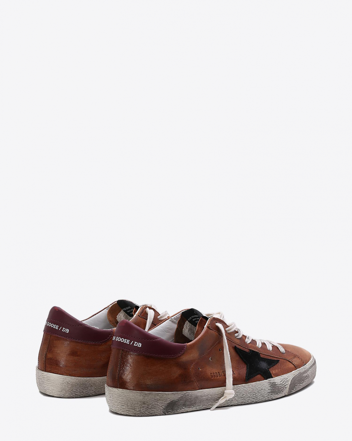 Golden Goose Men Sneakers Superstar - Brown Leather Black Star