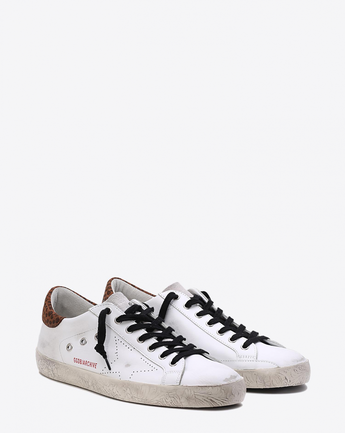 Golden Goose Men Sneakers Superstar - White Léopard Skate