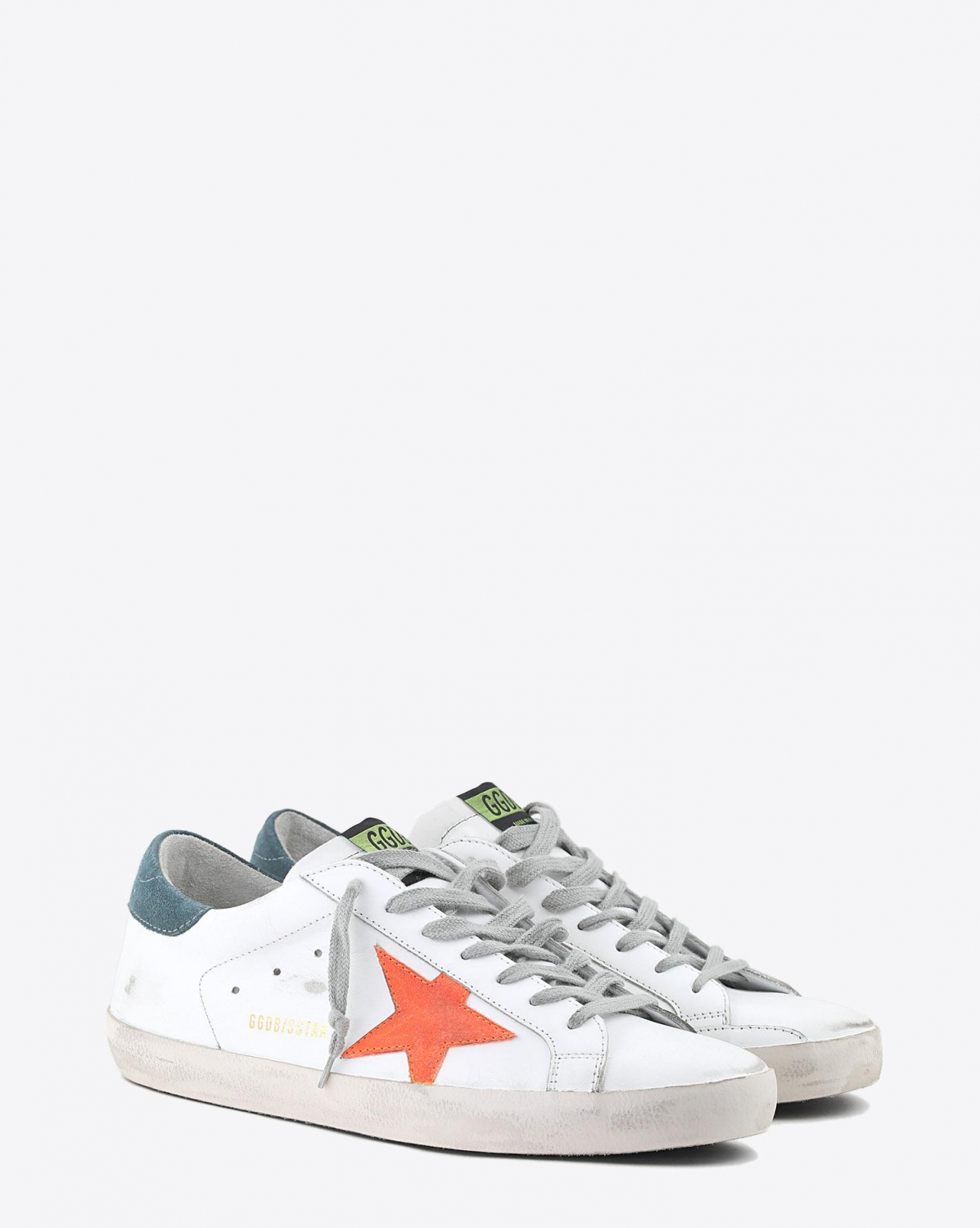 Golden Goose Men Sneakers Superstar - White Leather - Apricot Star