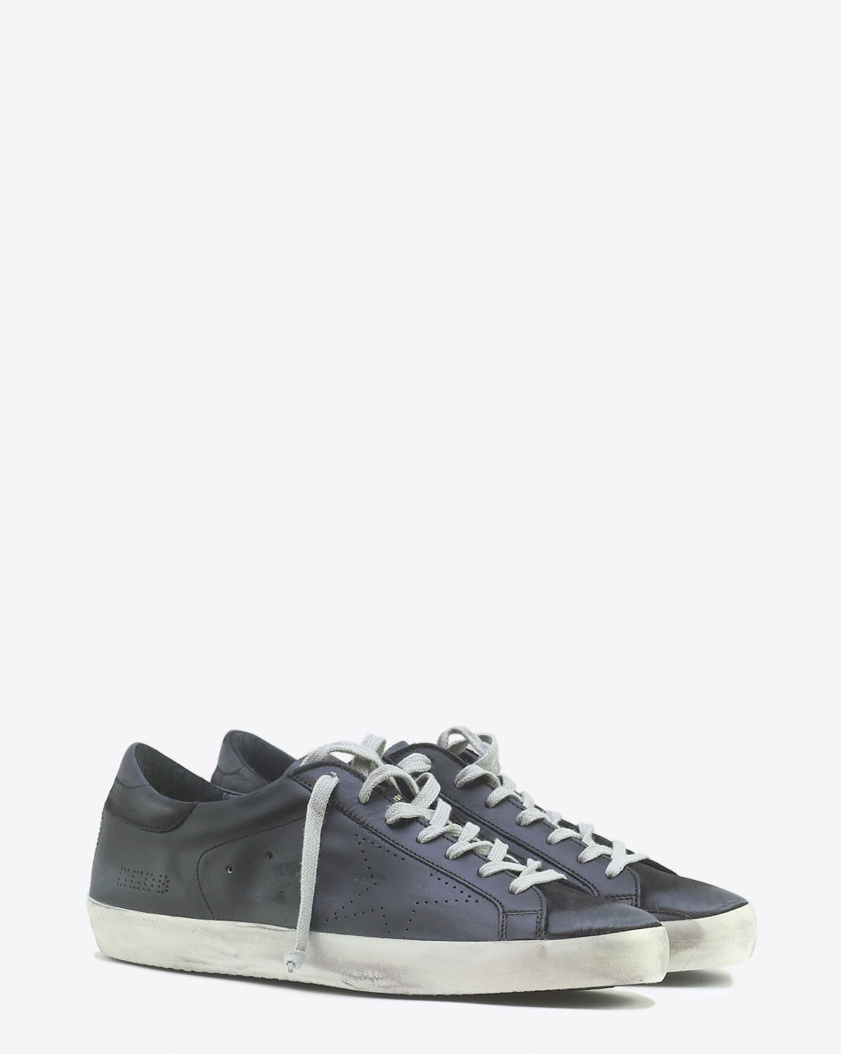 Golden Goose Men Sneakers Superstar  Black Skate