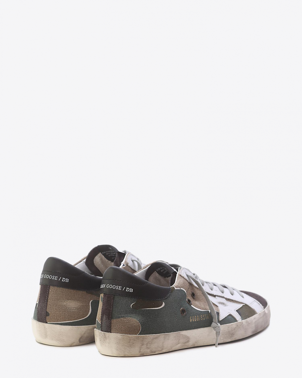 Golden Goose Men Sneakers Superstar Camou-Grey-White Star