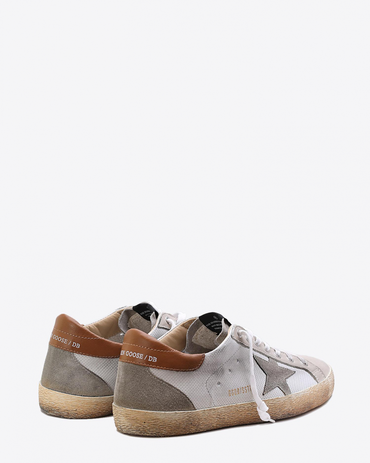 Golden Goose Men Sneakers Superstar White Spot - Rust