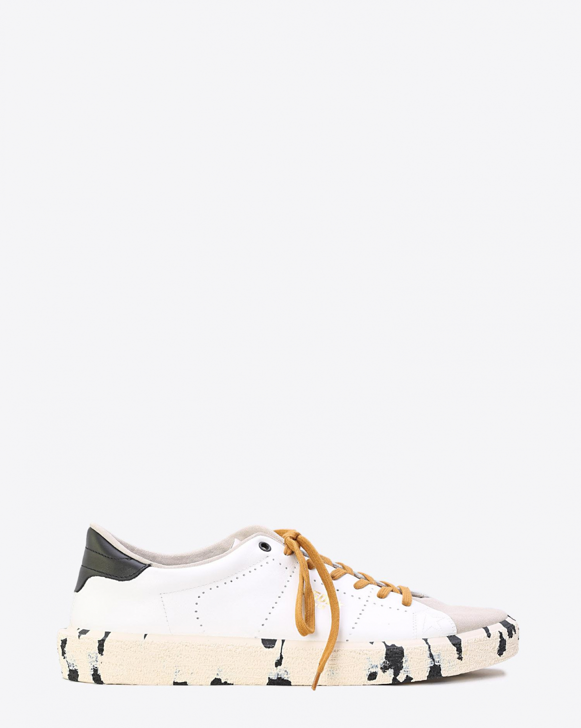 Golden Goose Men Sneakers Tennis White Leather Ice