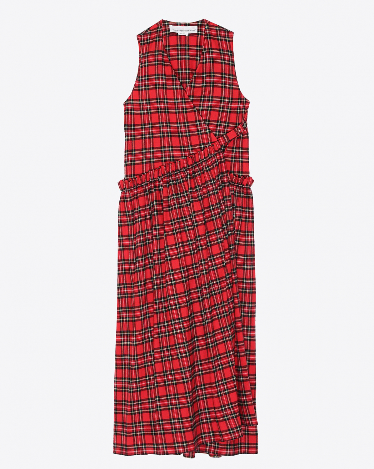 Golden Goose Vêtements Collection Dress Alba - Red/ Black Check