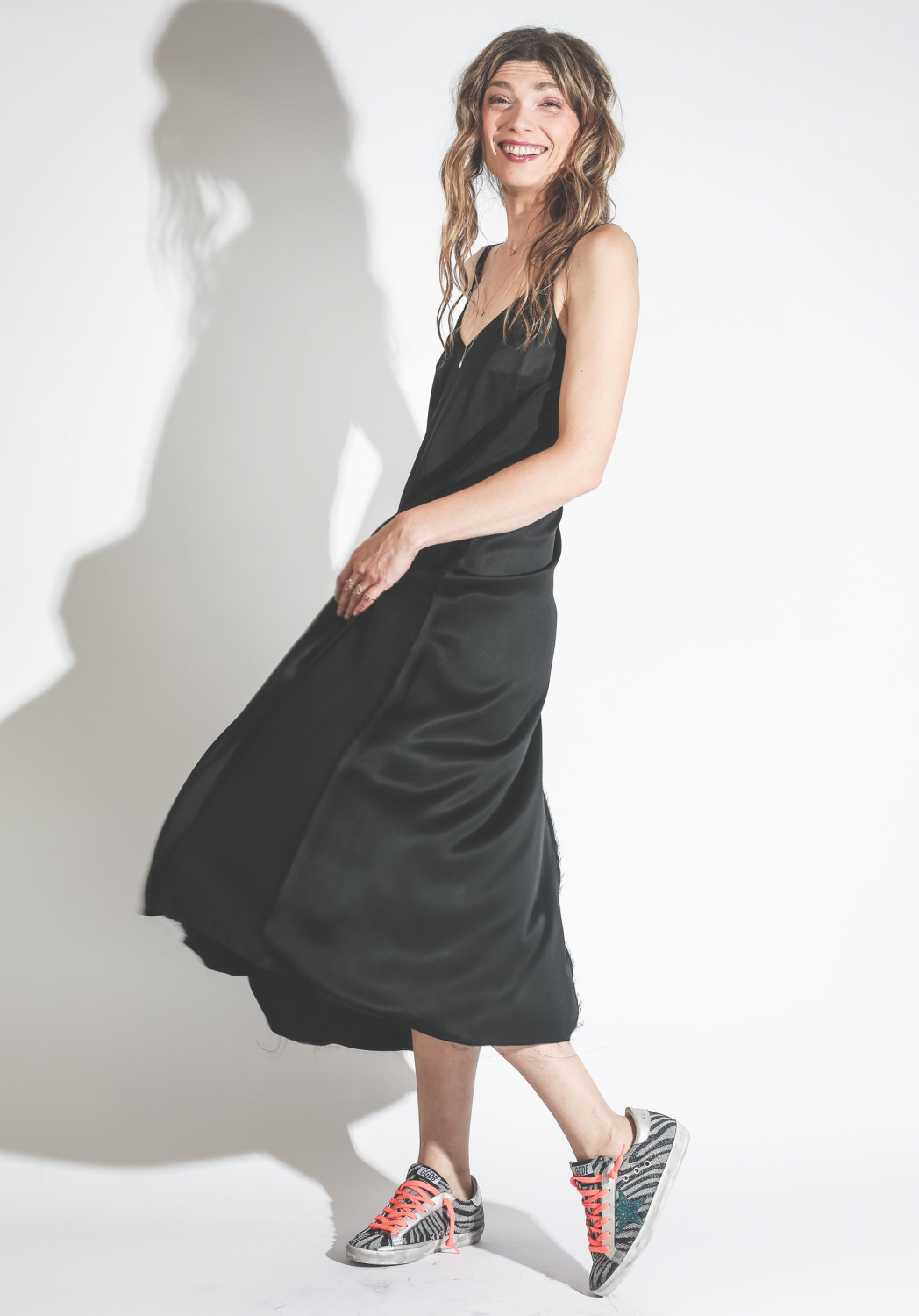 Golden Goose Vêtements Collection Dress Marpesia Black Sateen
