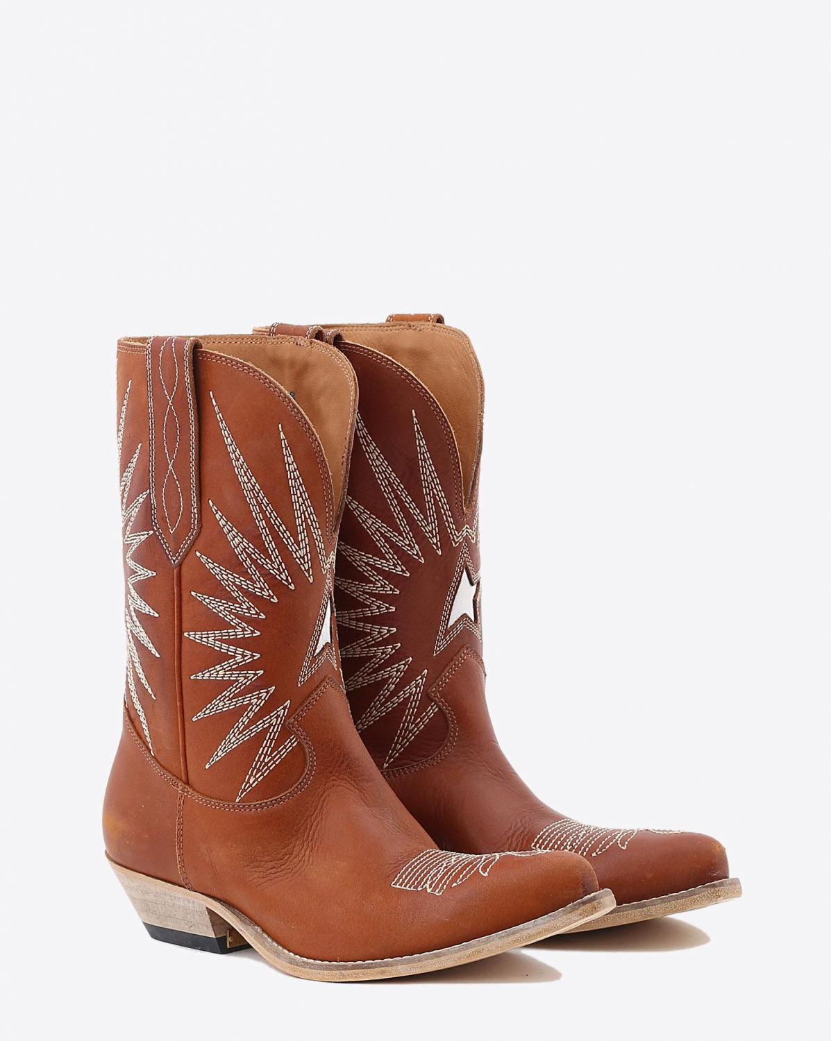 Golden Goose Woman Chaussures Collection Boots Wish Star Low - Cuoio Leather