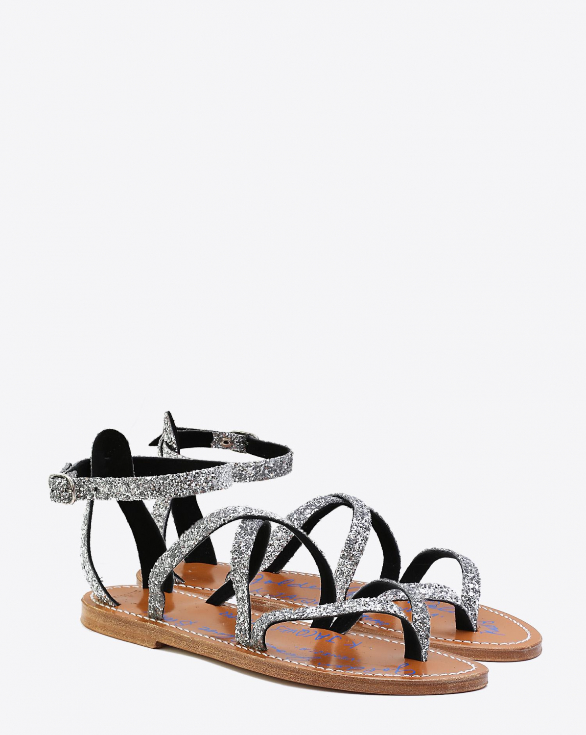 Golden Goose Woman Chaussures Collection Sandales GGDB by K.Jacques - Miel  Silver Glitter