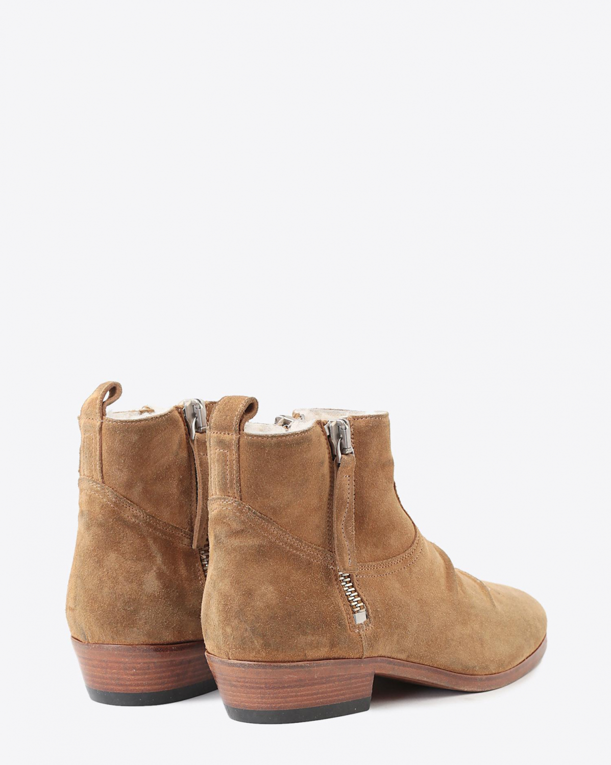 Golden Goose Woman Chaussures Pré-Collection Boots Viand - Tawny Suede - Shearling