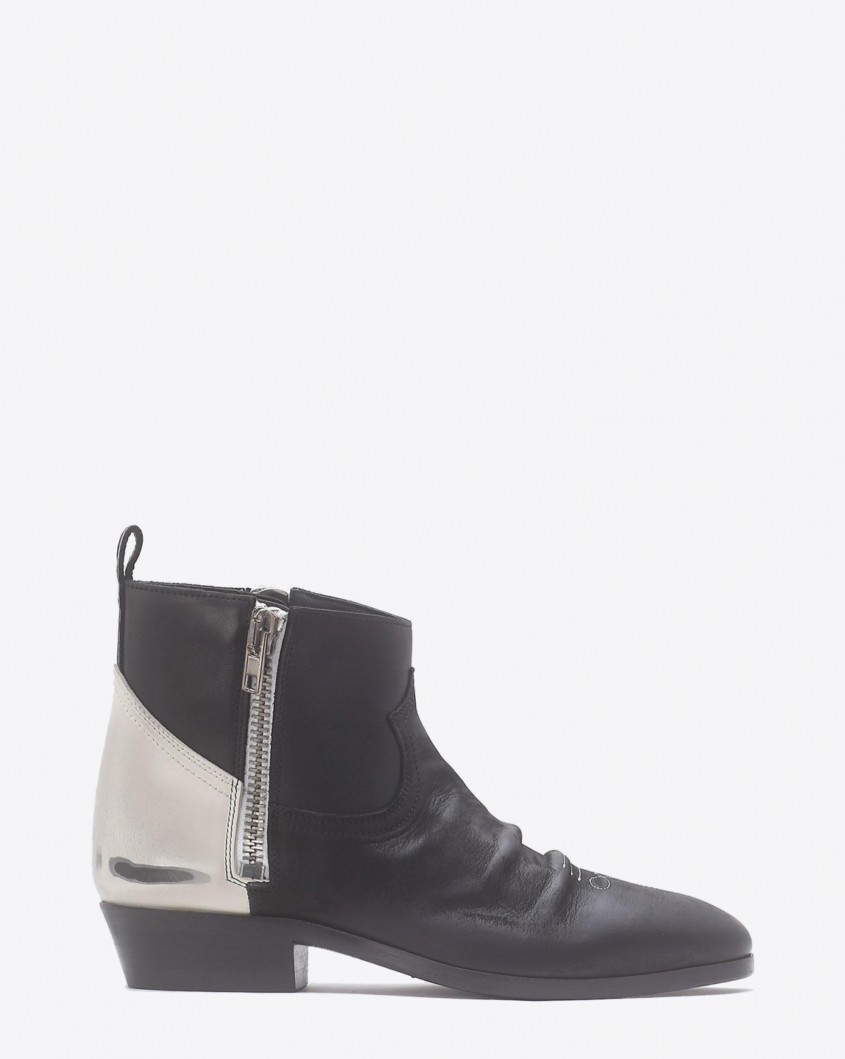 Golden Goose Woman Chaussures Pré-Collection Boots Viand Black And White Leather