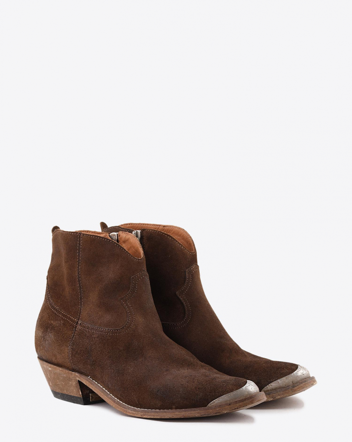 Golden Goose Woman Chaussures Pré-Collection Boots Young - Coffee Suede