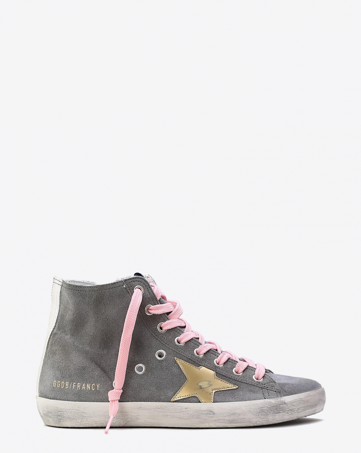 Golden Goose Woman Collection Sneakers Francy Grey Suede  Gold Star