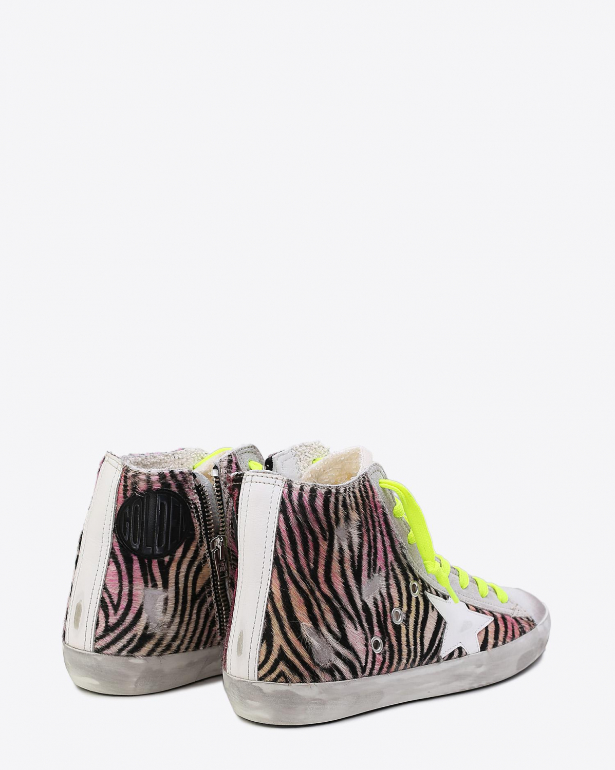 Golden Goose Woman Collection Sneakers Francy Multicolor Zebra - white Star