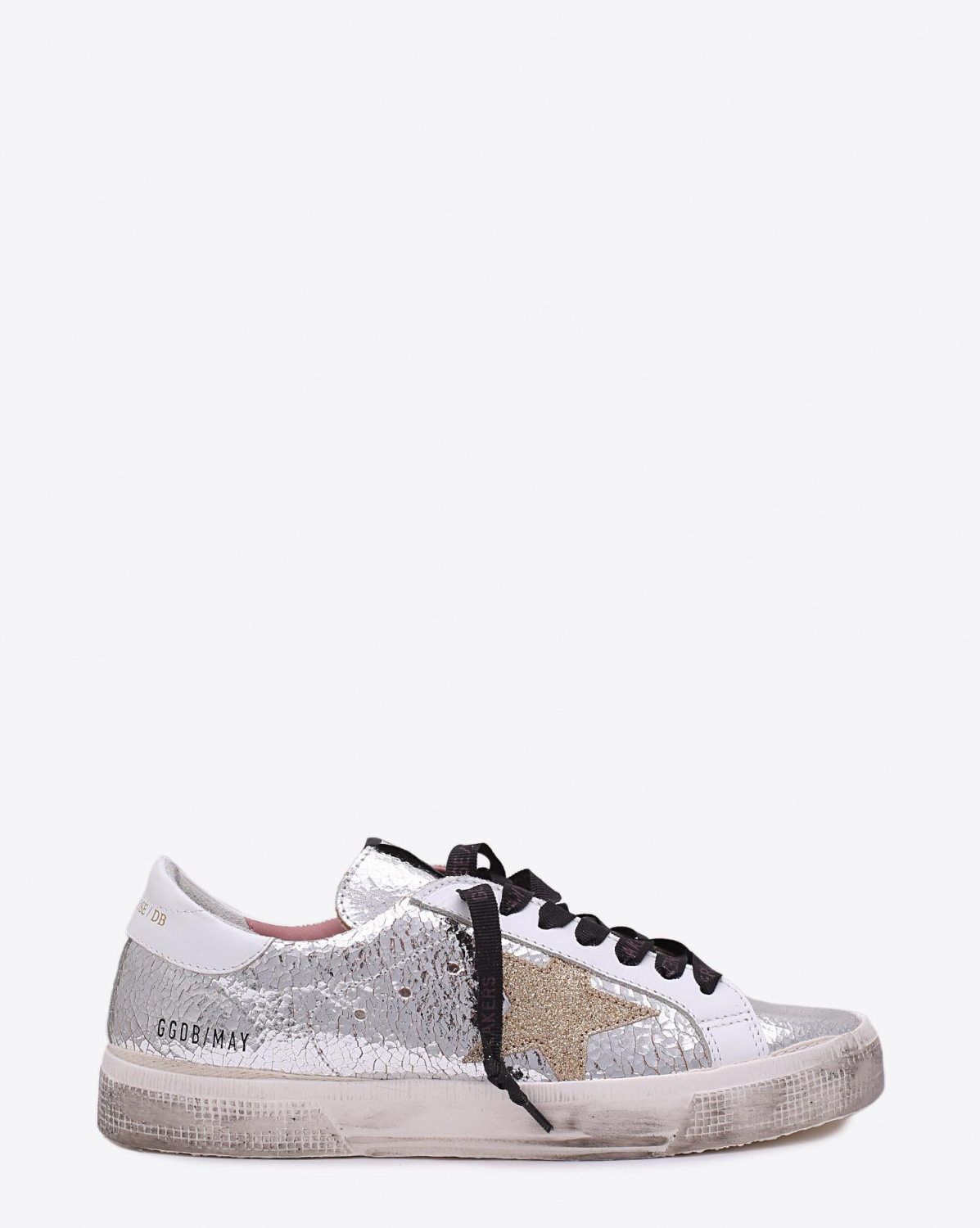 Golden Goose Woman Collection Sneakers May Silver Crash  Gold star