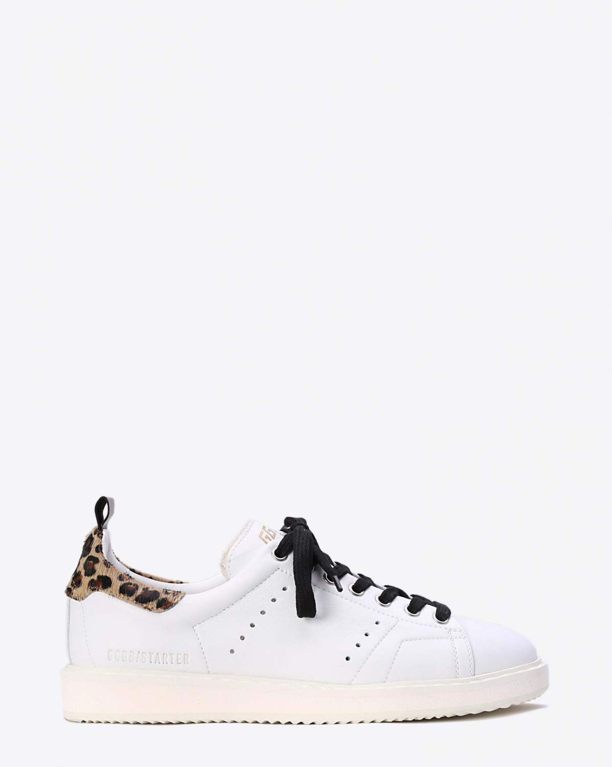 Golden Goose Woman Collection Sneakers Starter White leather - Léopard Pony