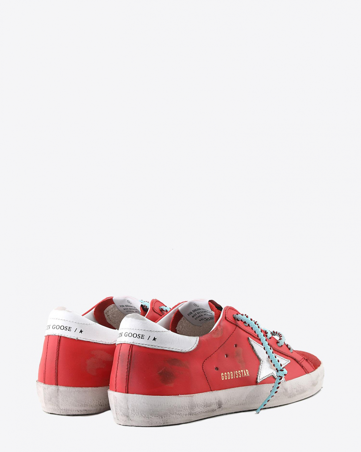 Golden Goose Woman Collection Sneakers Superstar - Cherry Leather - Silver Star