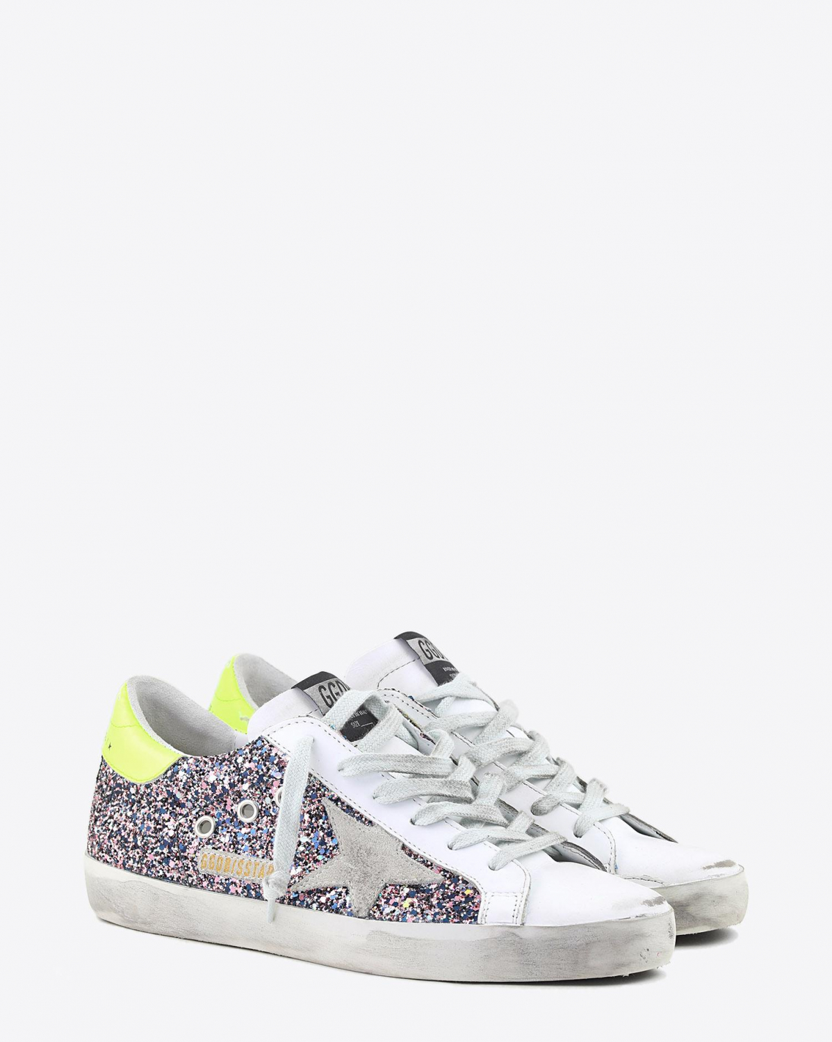 Golden Goose Woman Collection Sneakers Superstar - Pink - Grey Glitter - Ice Suede Star