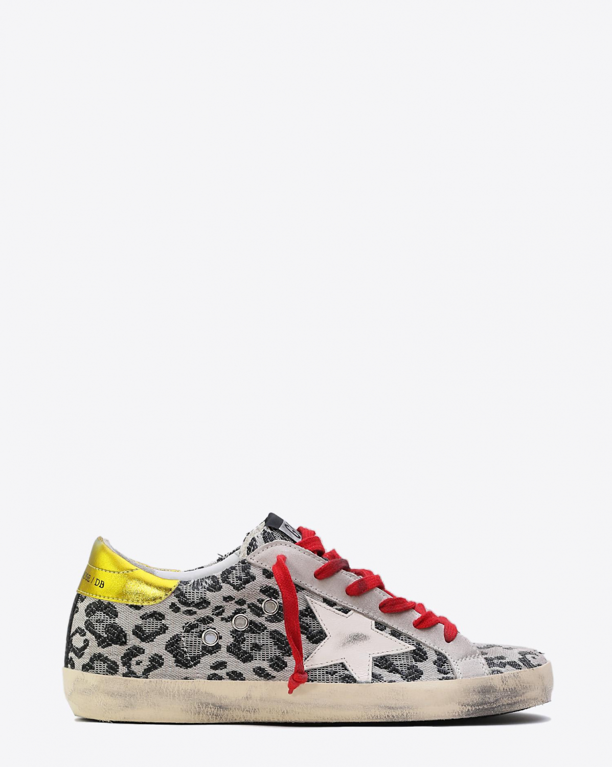 Golden Goose Woman Collection Sneakers Superstar Black Leopard Cream Star