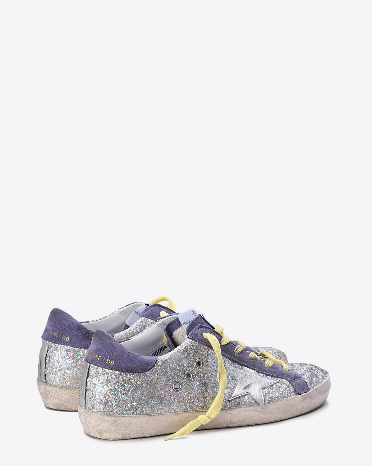 Golden Goose Woman Collection Sneakers Superstar Purple Glitter - Silver Star