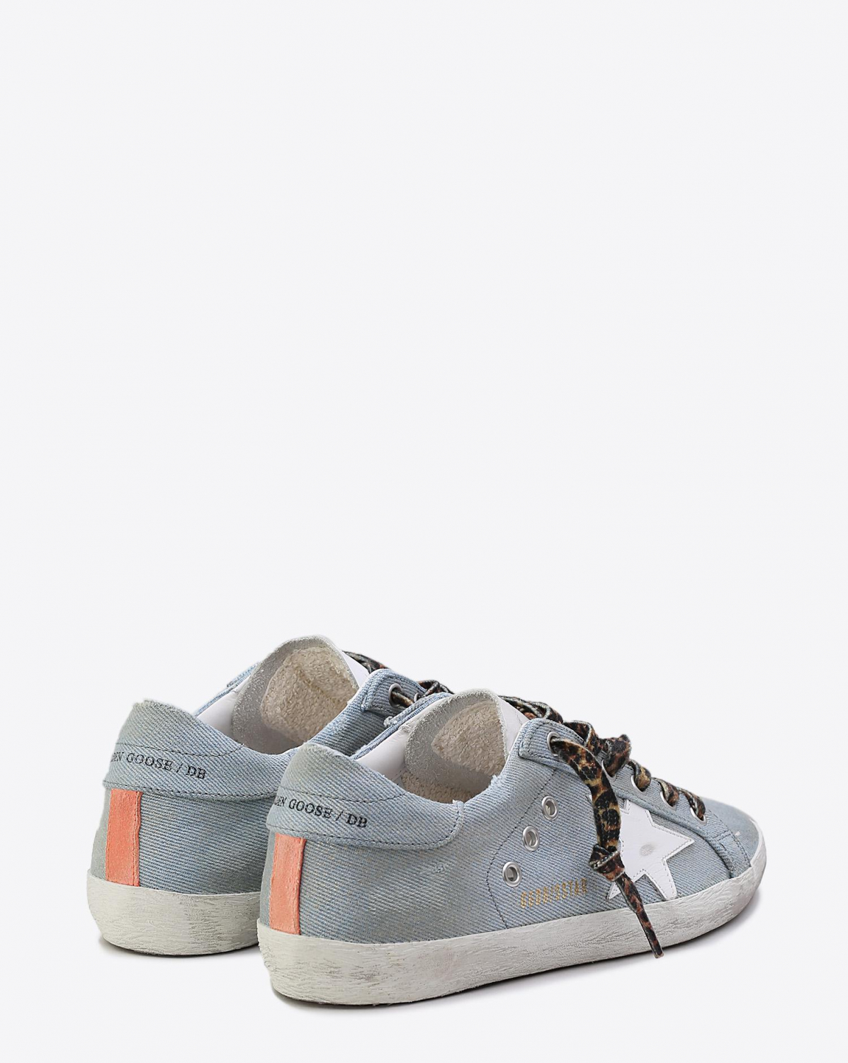Golden Goose Woman Collection Sneakers Superstar Shiny Jeans  White star