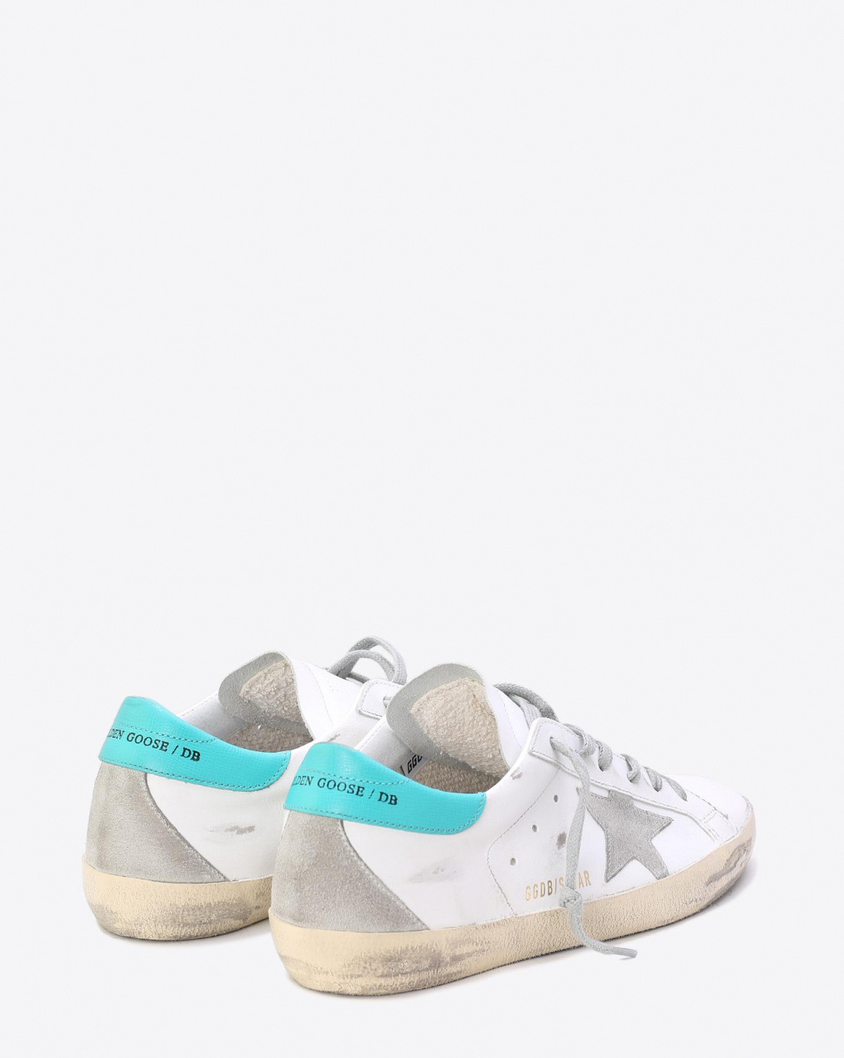 Golden Goose Woman Collection Sneakers Superstar White Aquamarine Cream
