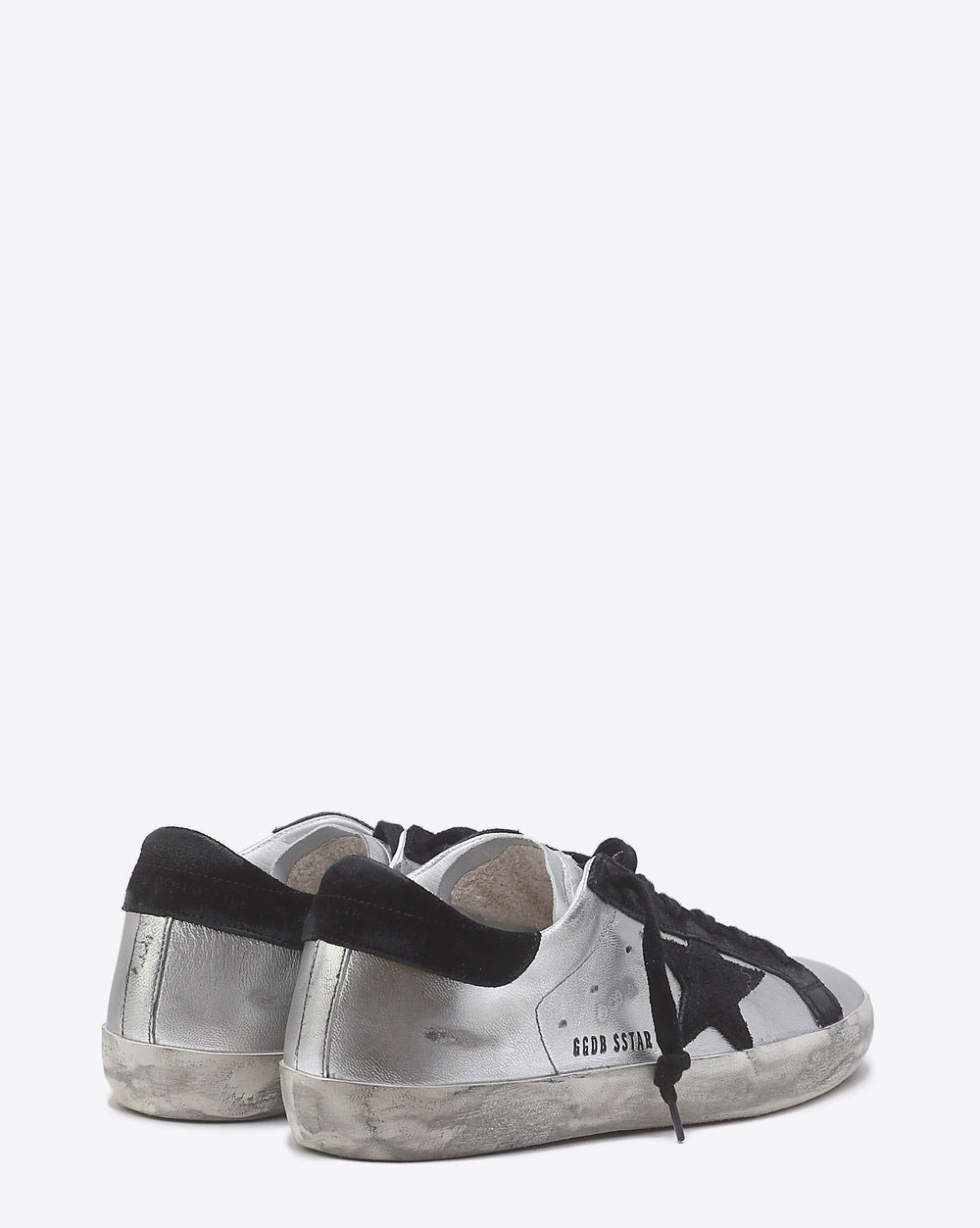 Golden Goose Woman Permanent Sneakers Superstar - Silver Black leather