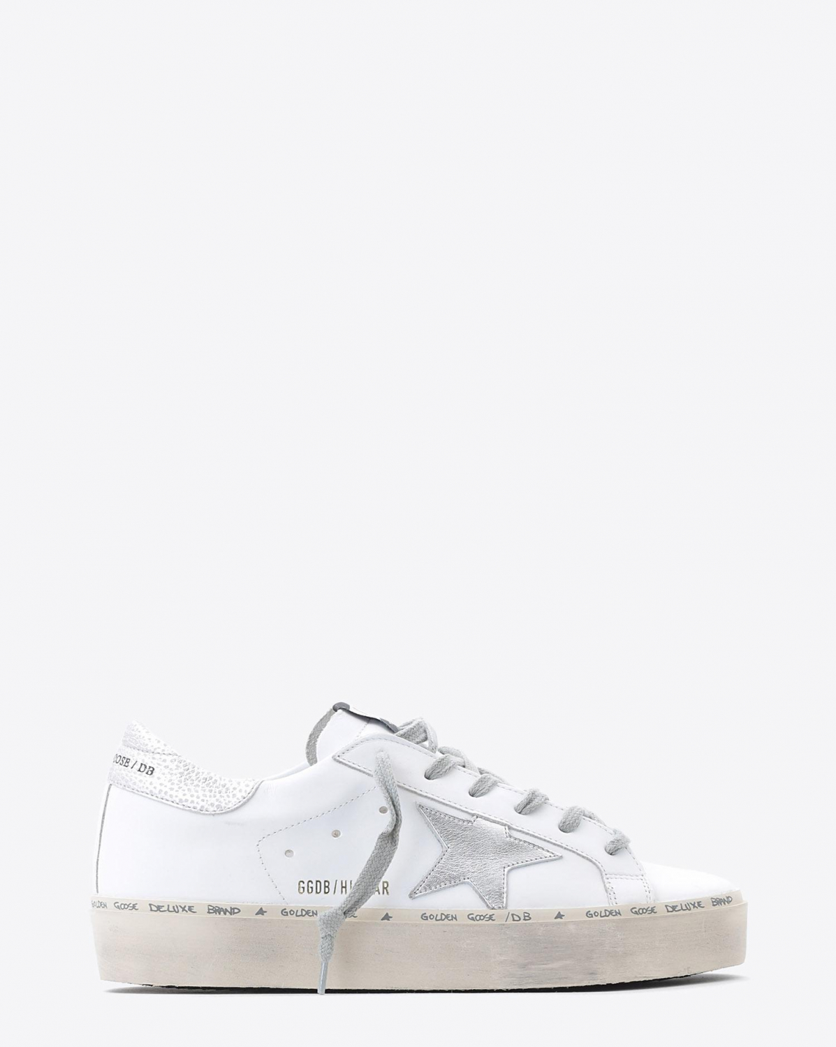Golden Goose Woman Pré-Collection Sneakers Hi Star- White Leather - Shiny Star