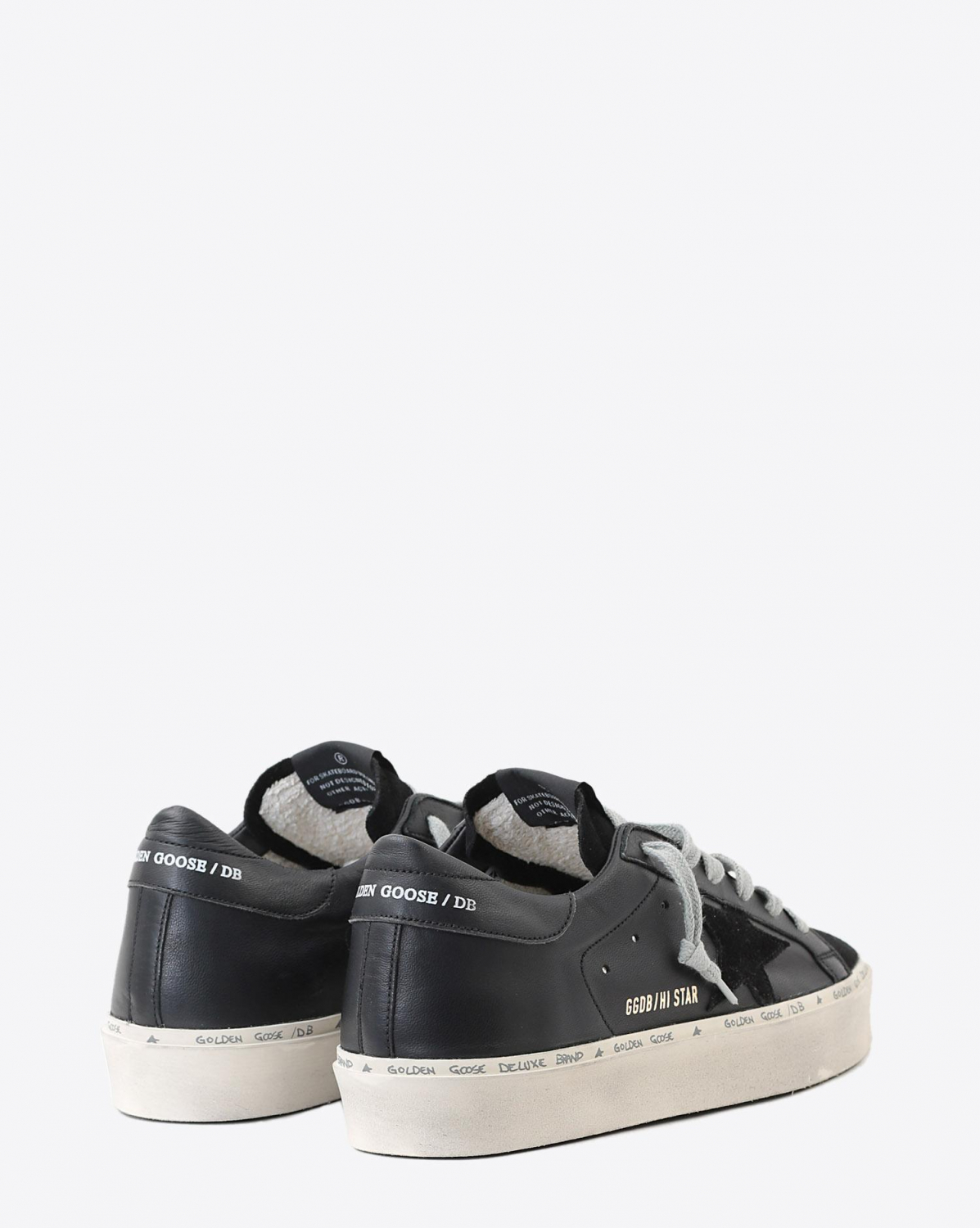 Golden Goose Woman Pré-Collection Sneakers Hi Star - Black Nappa - Suede Star