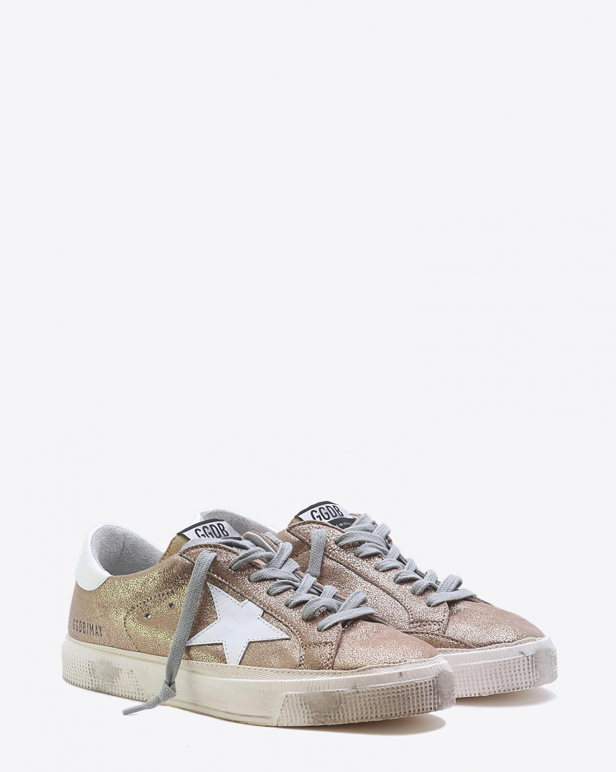 Golden Goose Woman Pré-Collection Sneakers May - Gold Crack White Star