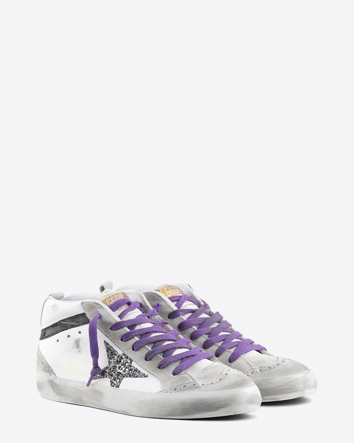 Golden Goose Woman Pré-Collection Sneakers Mid Star - Ice Suede - Cocco Glitter Star