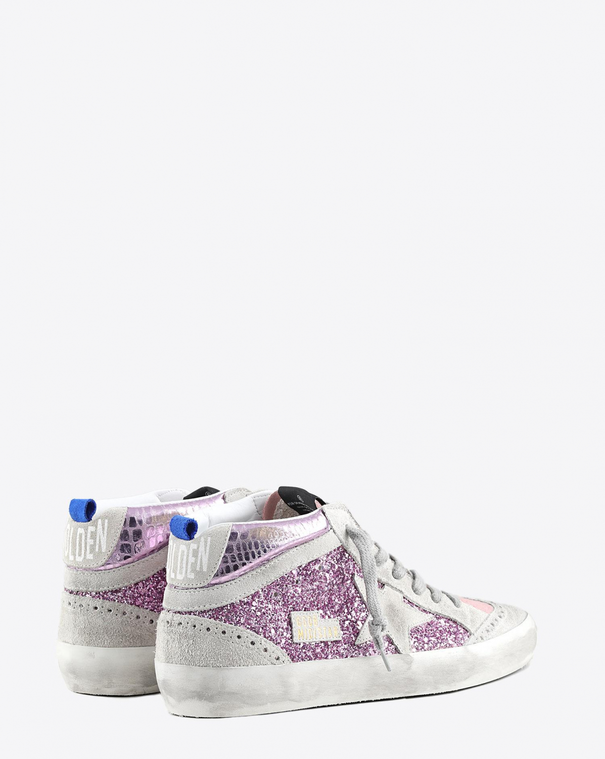 Golden Goose Woman Pré-Collection Sneakers Mid Star - Pink Glitter Cocco - Ice Star