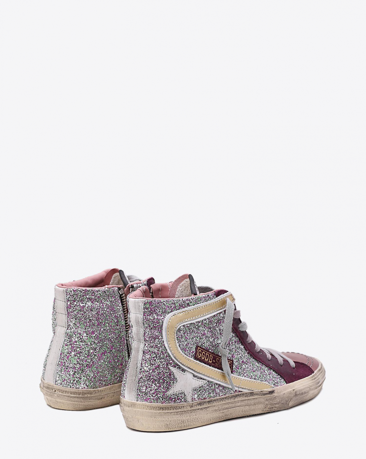 Golden Goose Woman Pré-Collection Sneakers Slide Cyclamin Glitter  White Star
