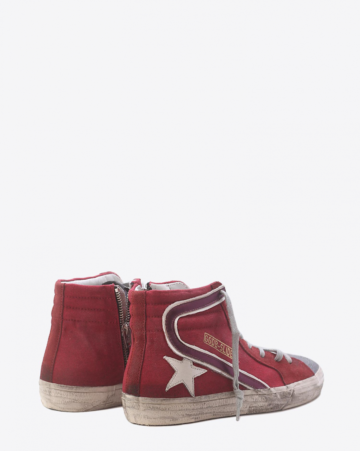 Golden Goose Woman Pré-Collection Sneakers Slide Red Canvas - Multicolor Glitter