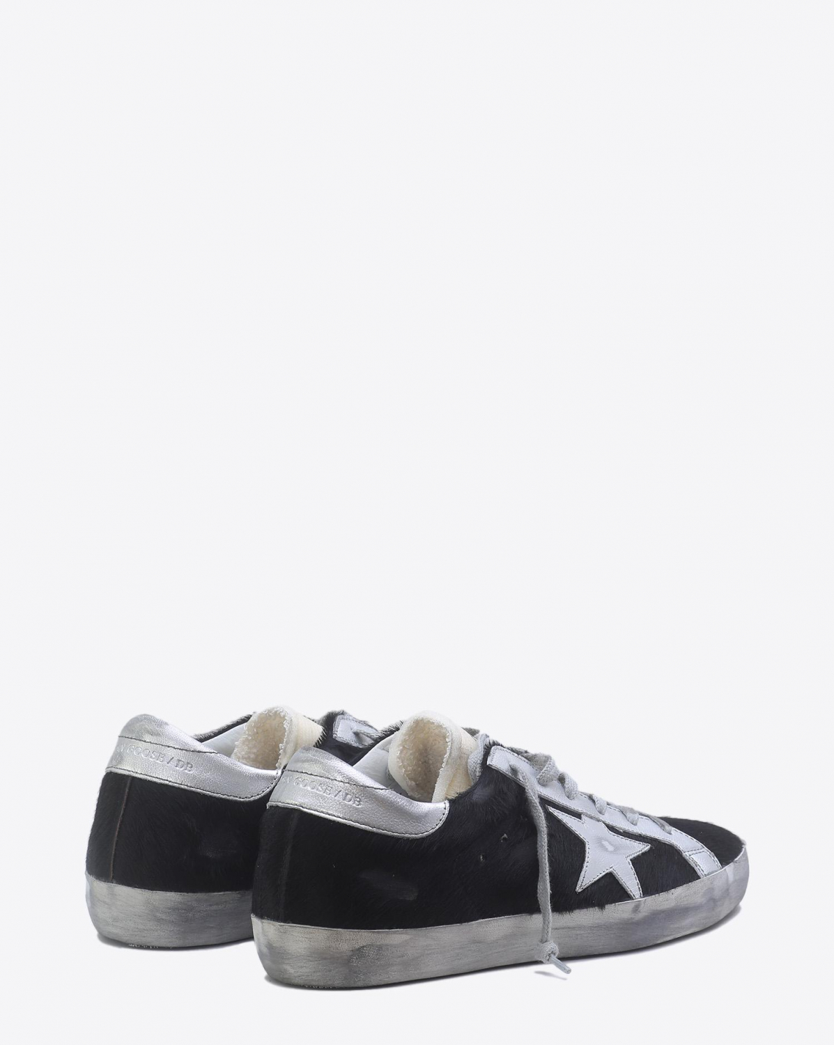 Golden Goose Woman Pré-Collection Sneakers Superstar - Black Horsy Silver Star