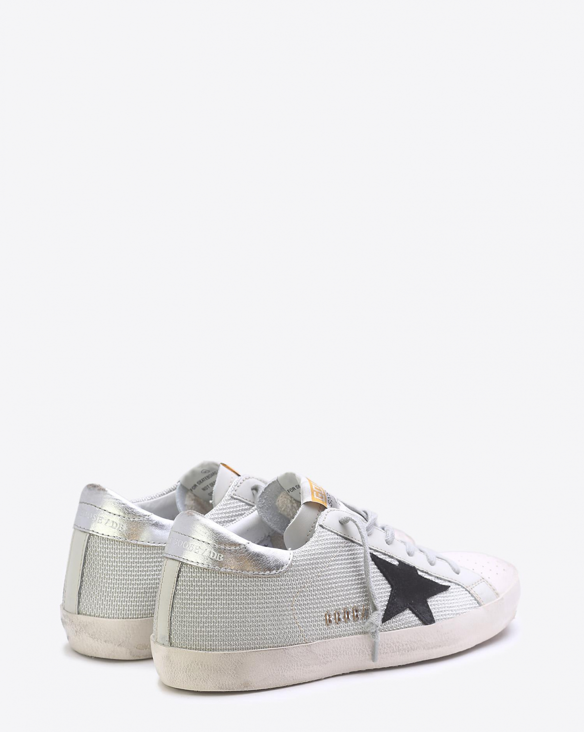 Golden Goose Woman Pré-Collection Sneakers Superstar - White CordSilver Lurex