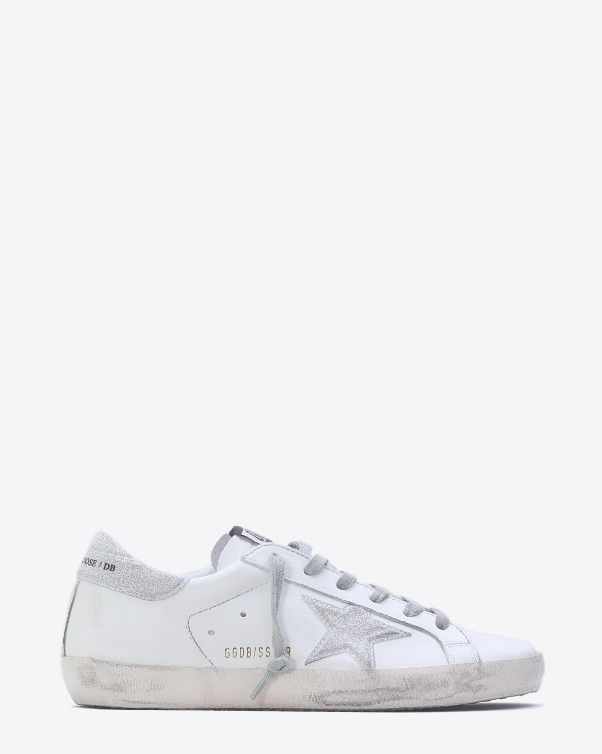 Golden Goose Woman Pré-Collection Sneakers Superstar - White Silver Glitter