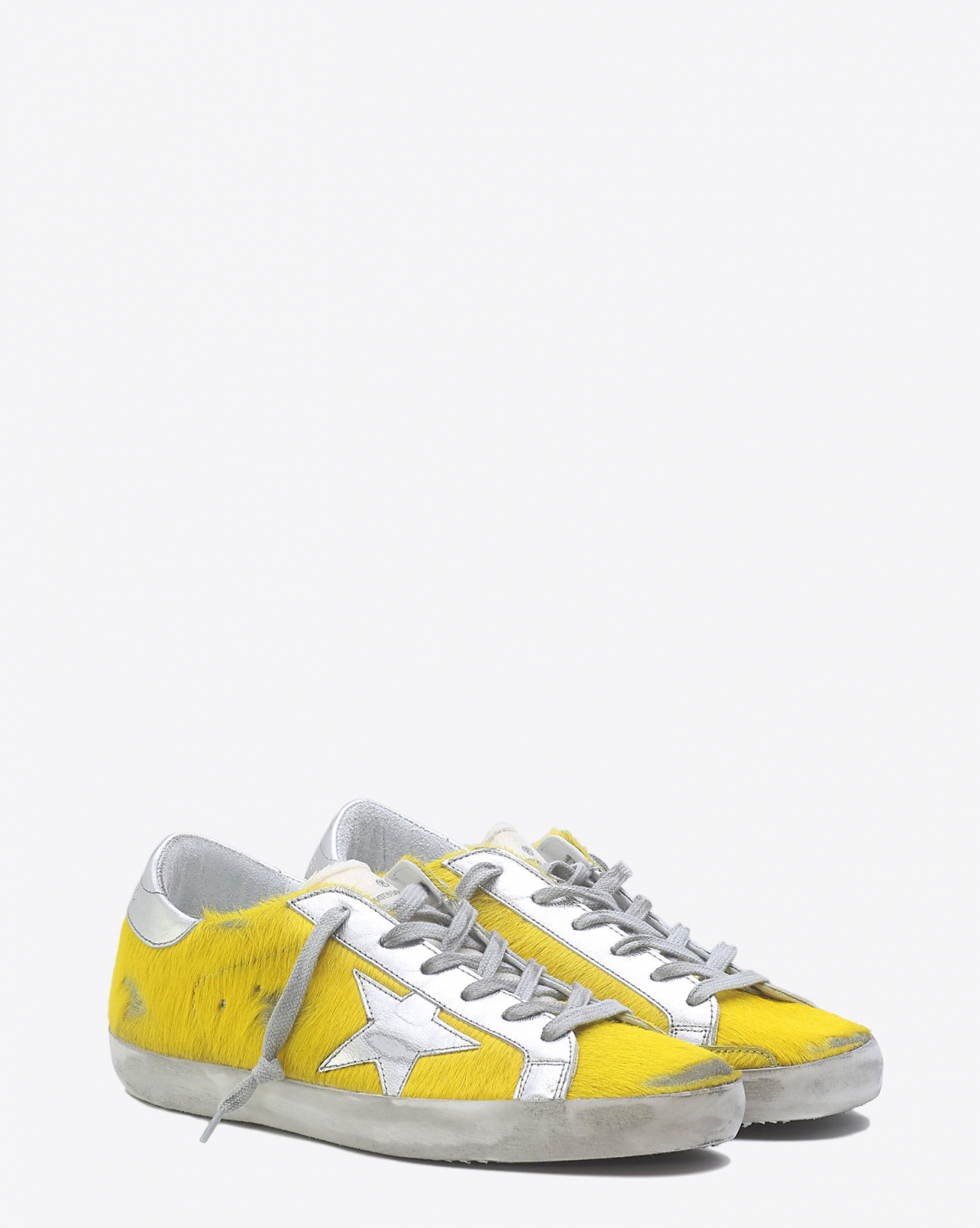 Golden Goose Woman Pré-Collection Sneakers Superstar - Yellow Horsy Silver Star
