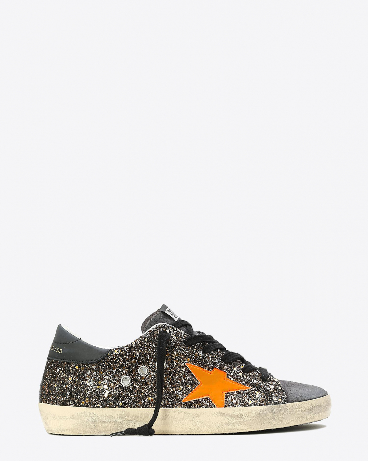 Golden Goose Woman Pré-Collection Sneakers Superstar Black Gold Glitter - Fluo Star