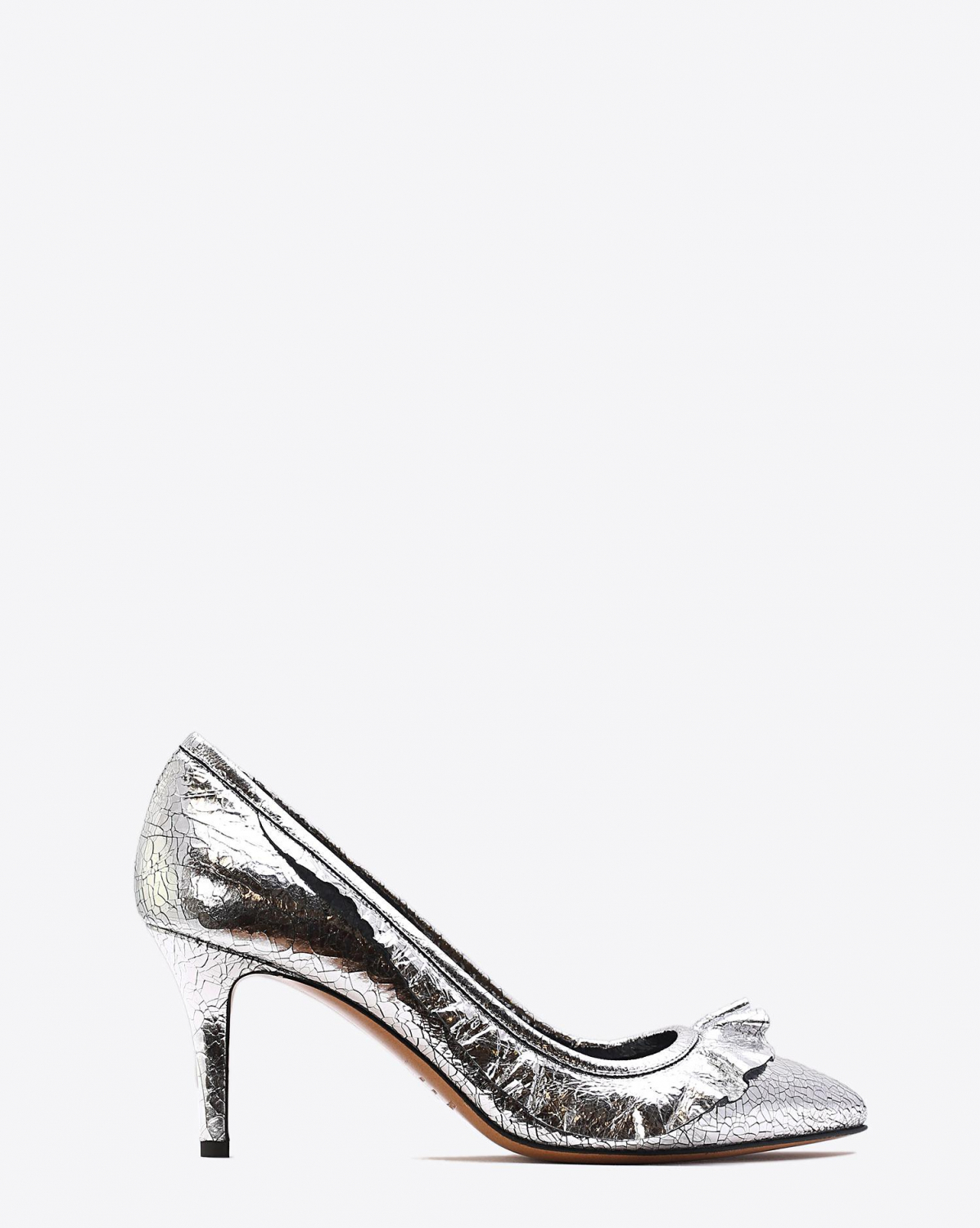 Isabel Marant Chaussures Escarpins Poween - Crack Leather Silver