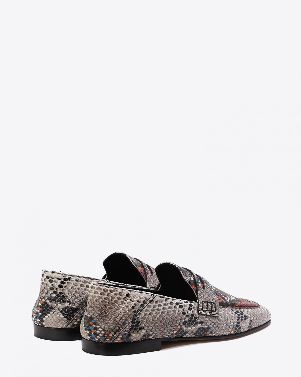 Isabel Marant Chaussures Mocassin Fezzy - Exotic Print Rust