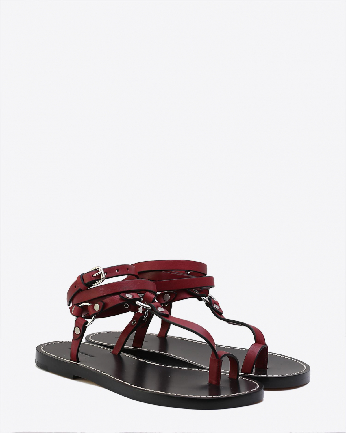 Isabel Marant Chaussures Sandales Joxxy - Burgundy