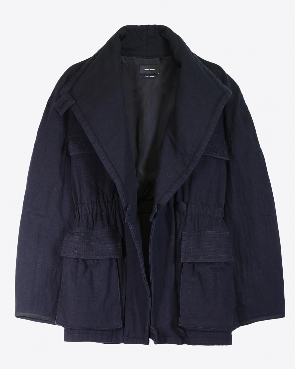 Isabel Marant Défilé Manteau Emmett - Faded Black