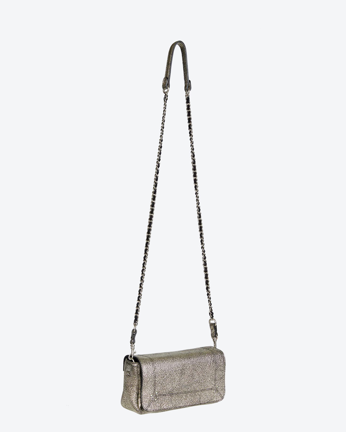 Jérôme Dreyfuss Collection Bob Laminé Silver Goatskin