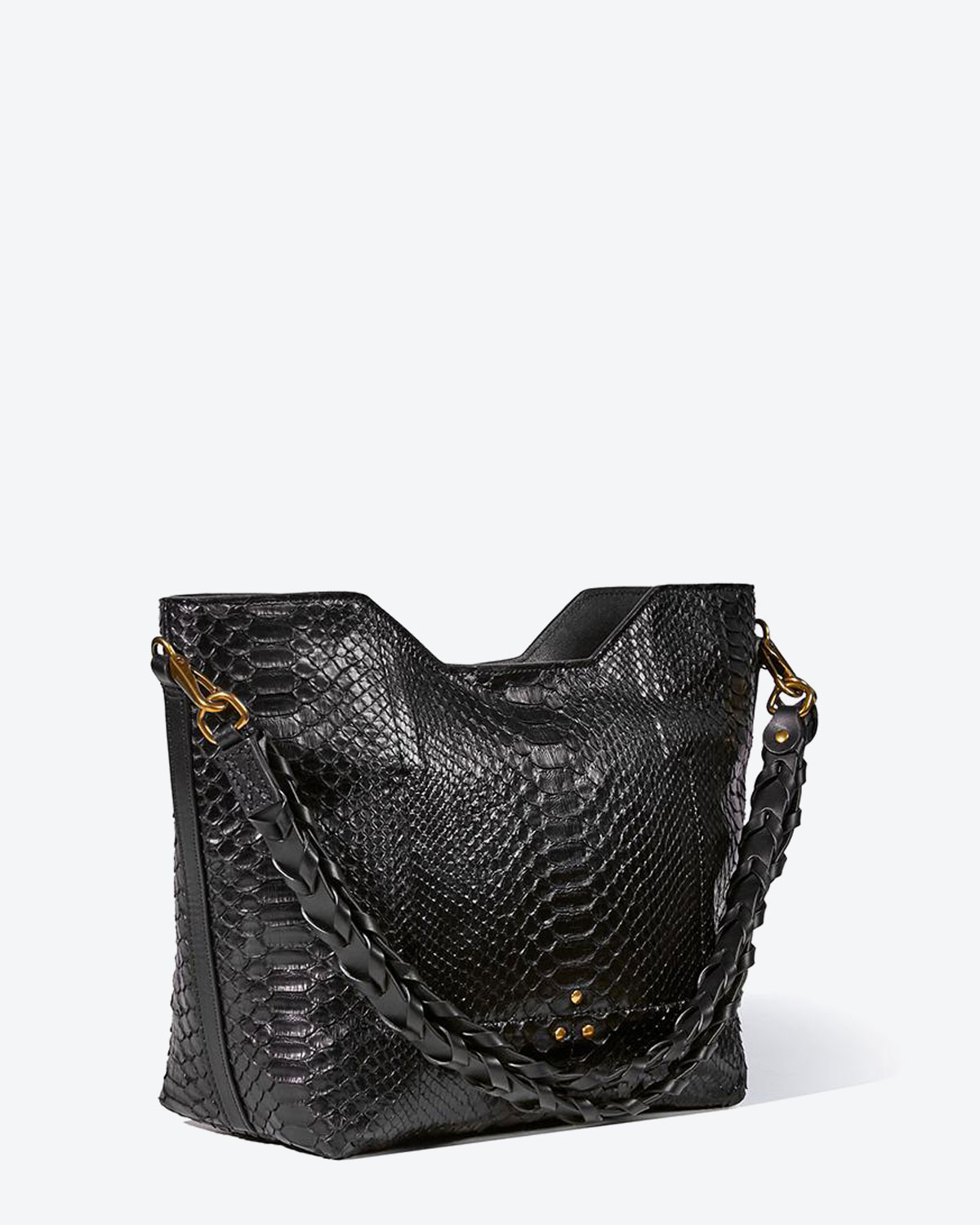 Jérôme Dreyfuss Collection Pierre - Python Noir