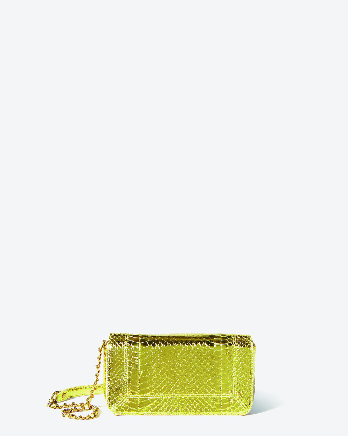 Jérôme Dreyfuss Pré-Collection Bob - Snakeskin Lamé Jaune